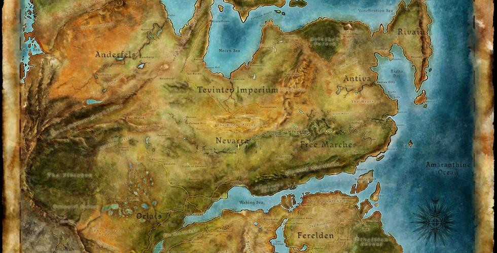 Thedas Haritası