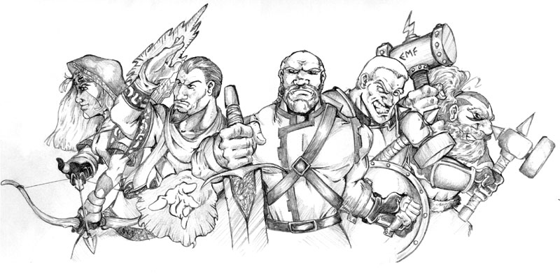 İttifak Seferinin liderleri Alleria Windrunner, Khadgar, Danath Trollbane, Turalyon ve Kurdran Wildhammer