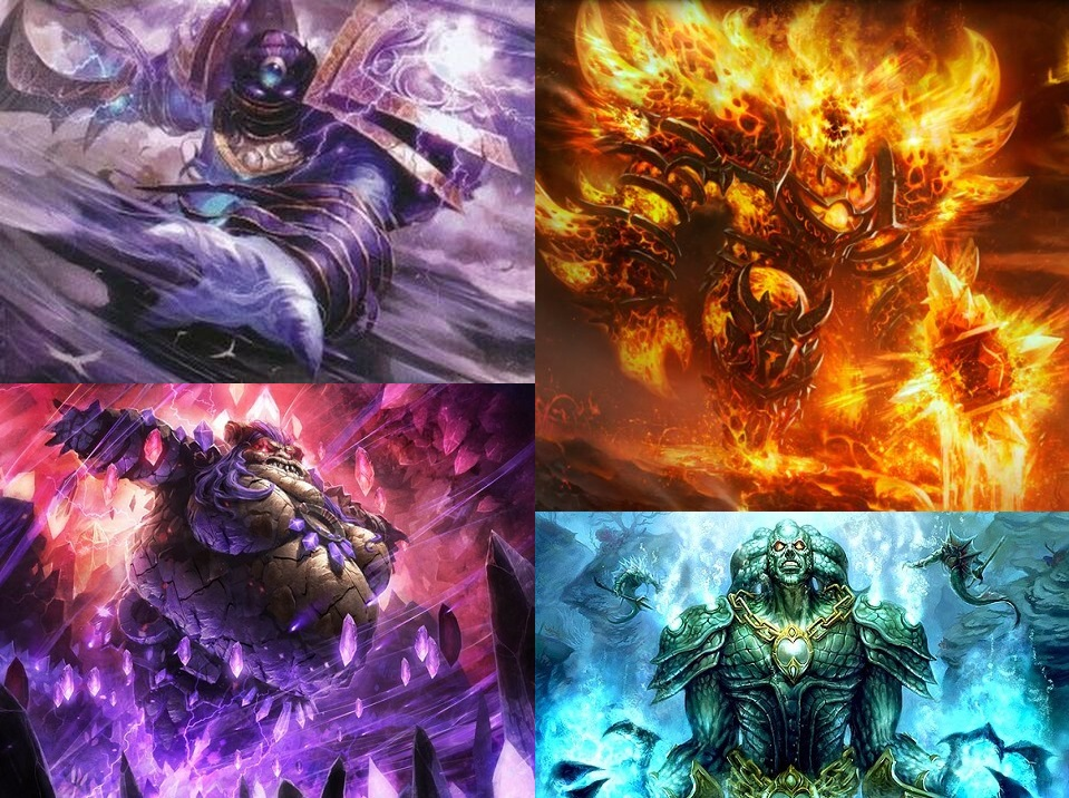 Element efendileri Al'Akir, Ragnaros, Therazane ve Neptulon