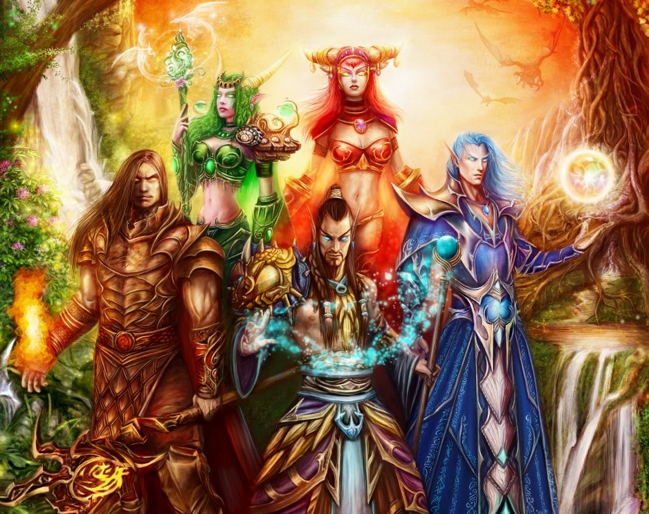 Ejdersürüsü liderlerinin fanî formlarındaki bedenleri Ysera, Alexstrasza, Neltharion, Nozdormu ve Malygos