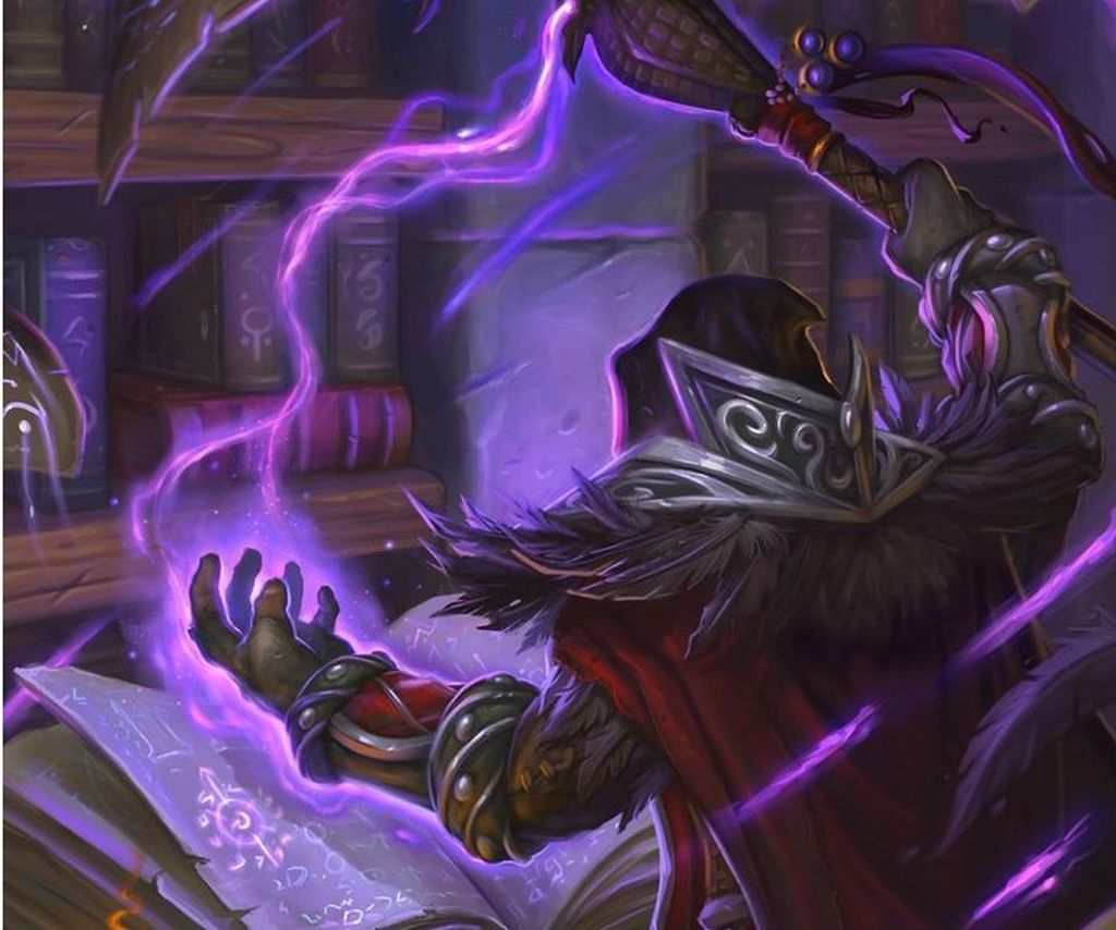 Medivh, studying the magic books in Karazhan