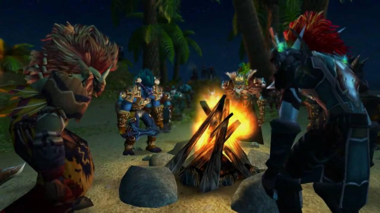 Zul ve diğer trol liderleriyle görüşen Vol'jin