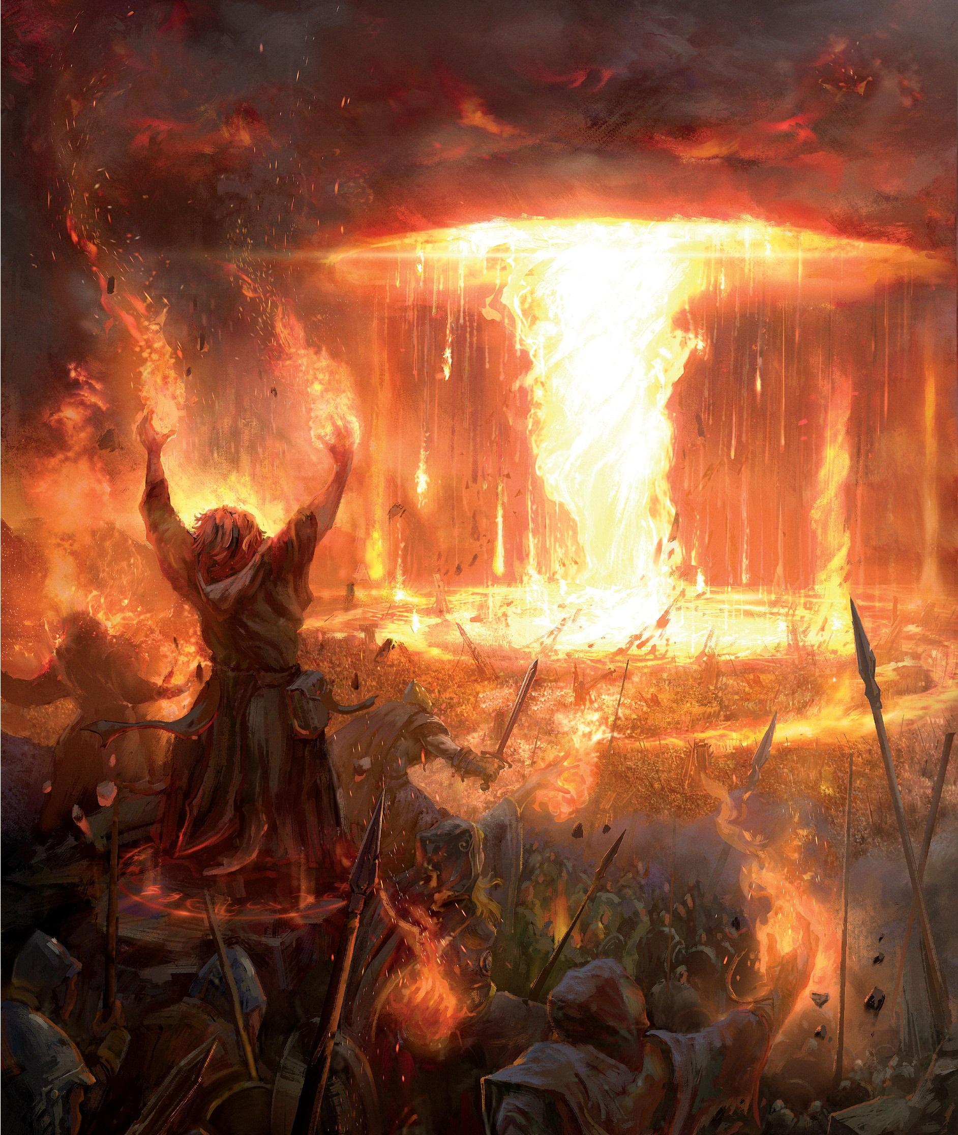 İnsan büyücülerin bir araya gelerek gerçekleştirdikleri saldırı