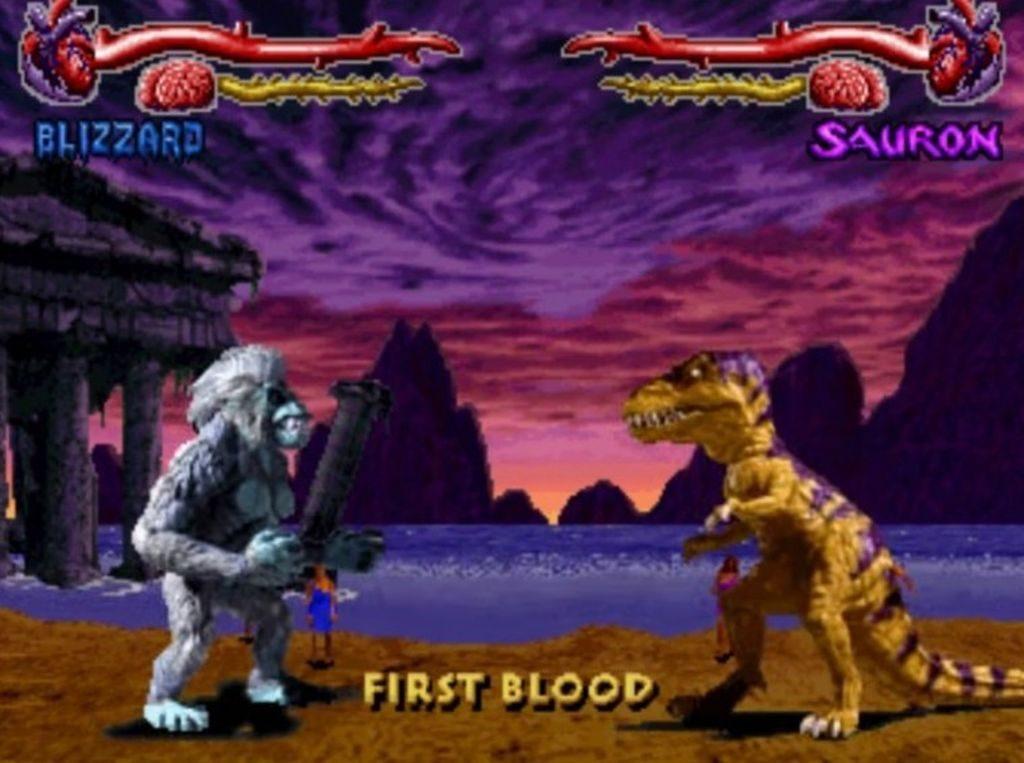 Primal Rage'deki karakterlerin isimleri de tesadüfün bu kadarına pes dedirtiyor zaman zaman: Sauron, Blizzard, Diablo...