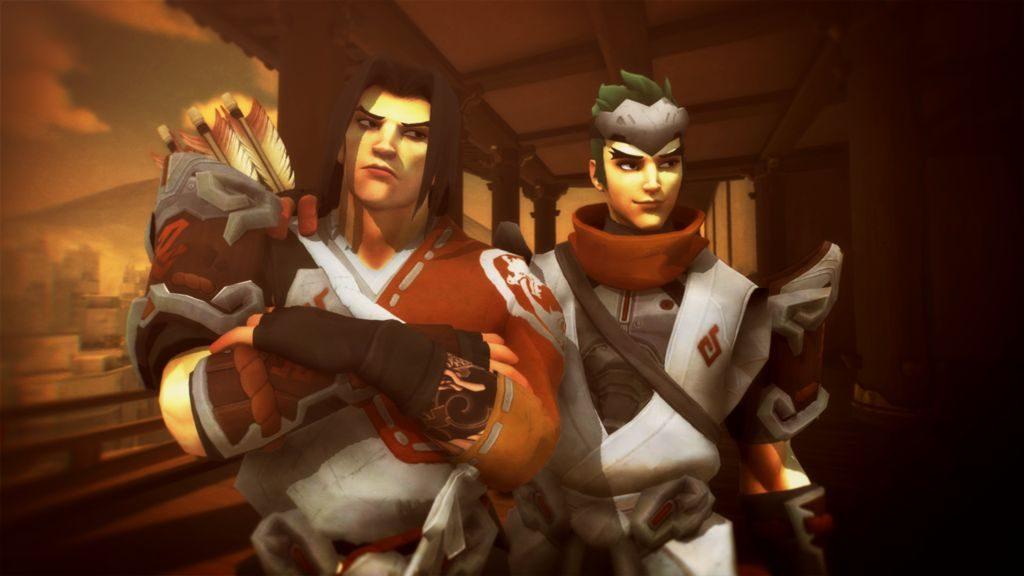 Henüz birbirlerine düşman olmadıkları dönemde Hanzo ve Genji
