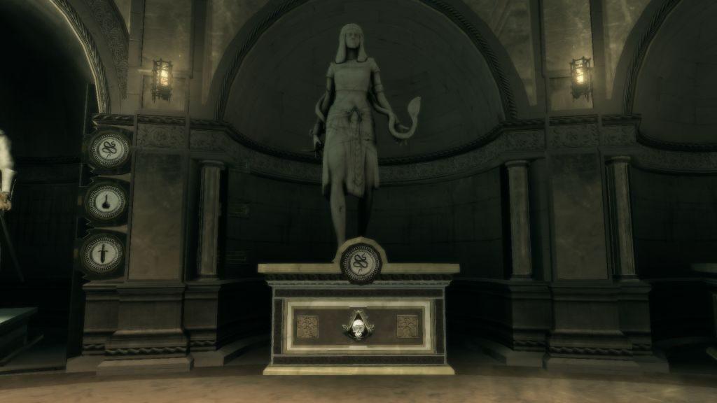 Assassin's Creed II'de gördüğümüz haliyle Amunet'in heykeli.