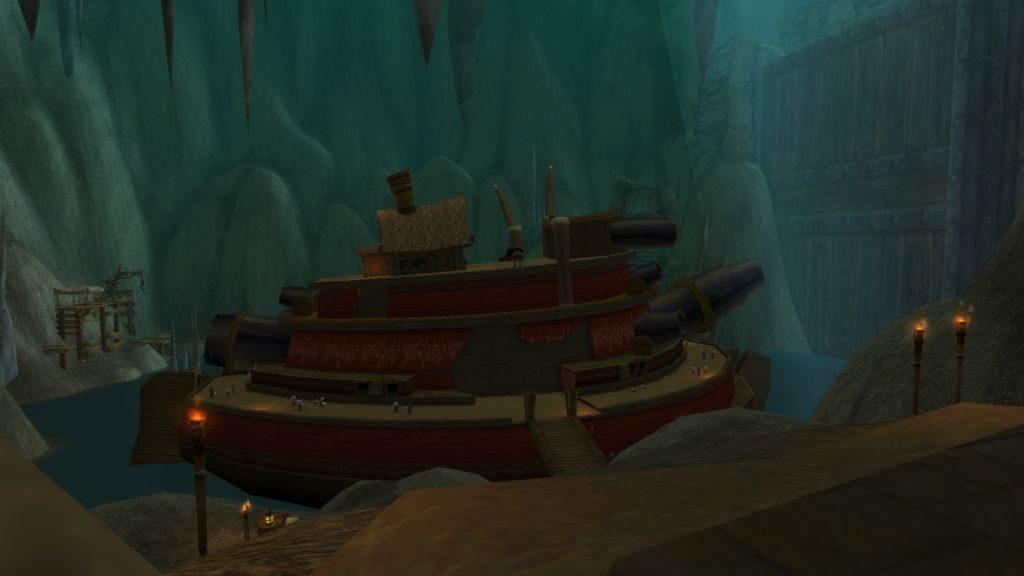 Defias Kardeşliği'nin madenlerde inşa ettiği savaş gemisi
