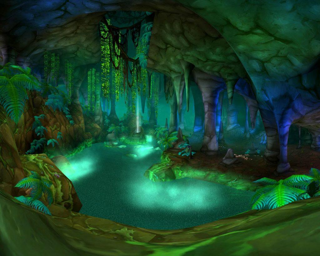 Wailing Caverns'ın içerisinden bir bölüm