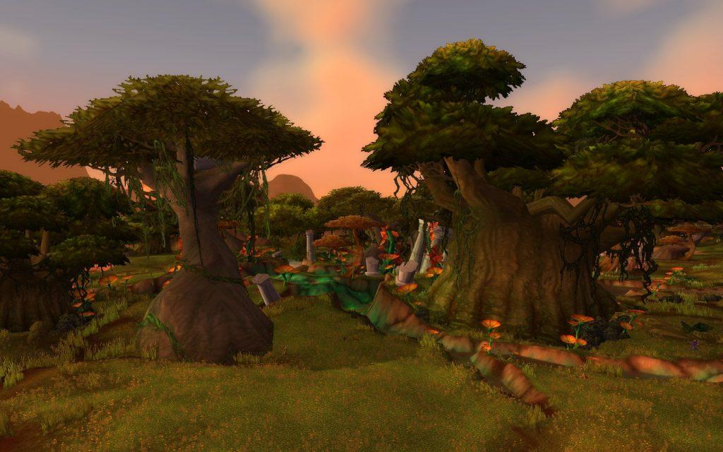 """Âfet sonrası Wailing Caverns'ın dışında oluşan """"Overgrowth"""" adındaki bölge"""
