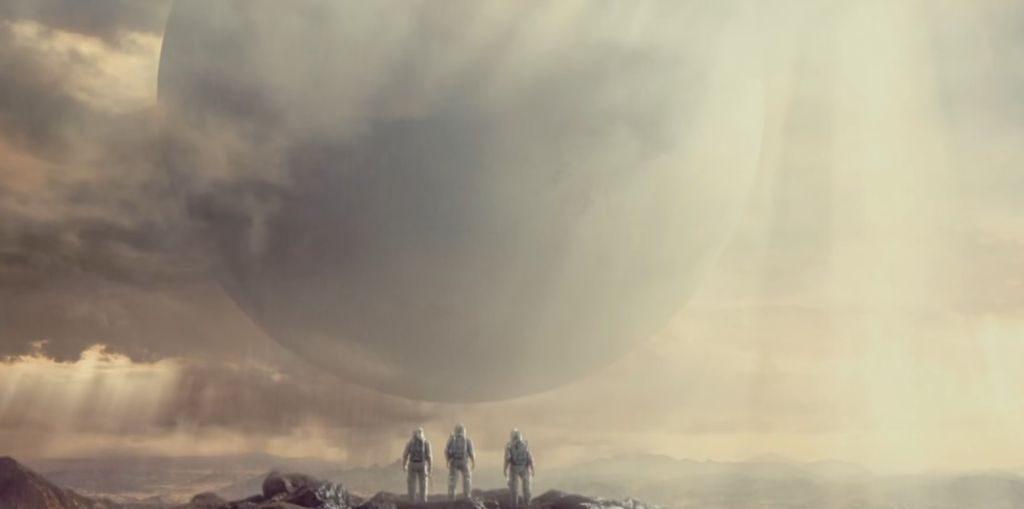 Mars'ta Gezgin'le karşılaşan Ares Bir ekibi.