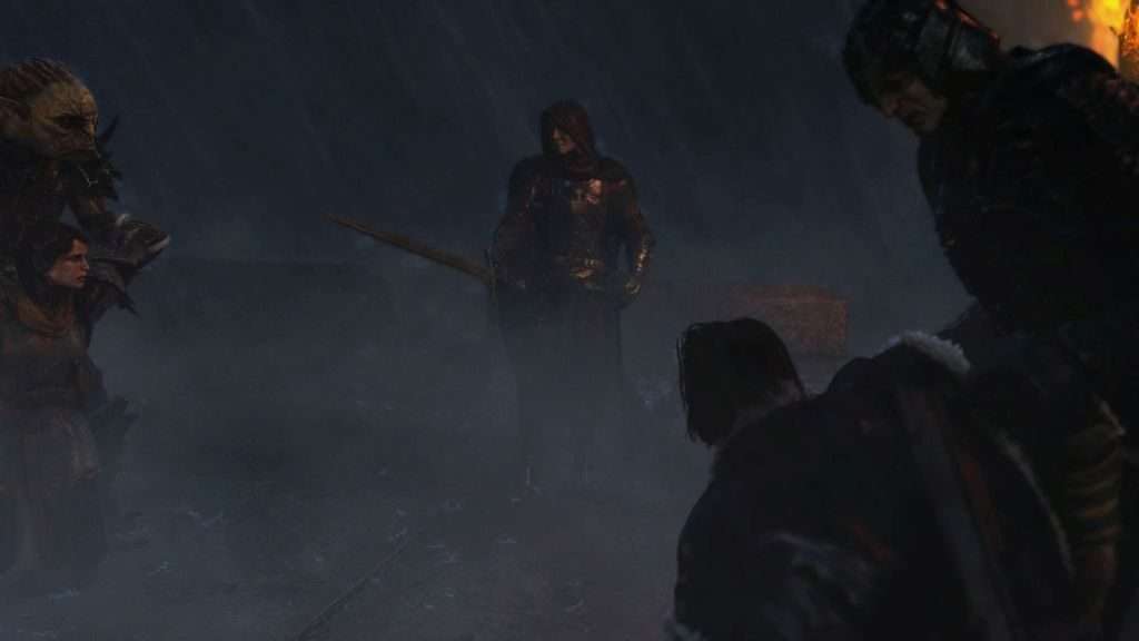 Kara El, Kara Kapı'daki Gondor garnizonunu basıp Talion ve ailesini esir alırken...