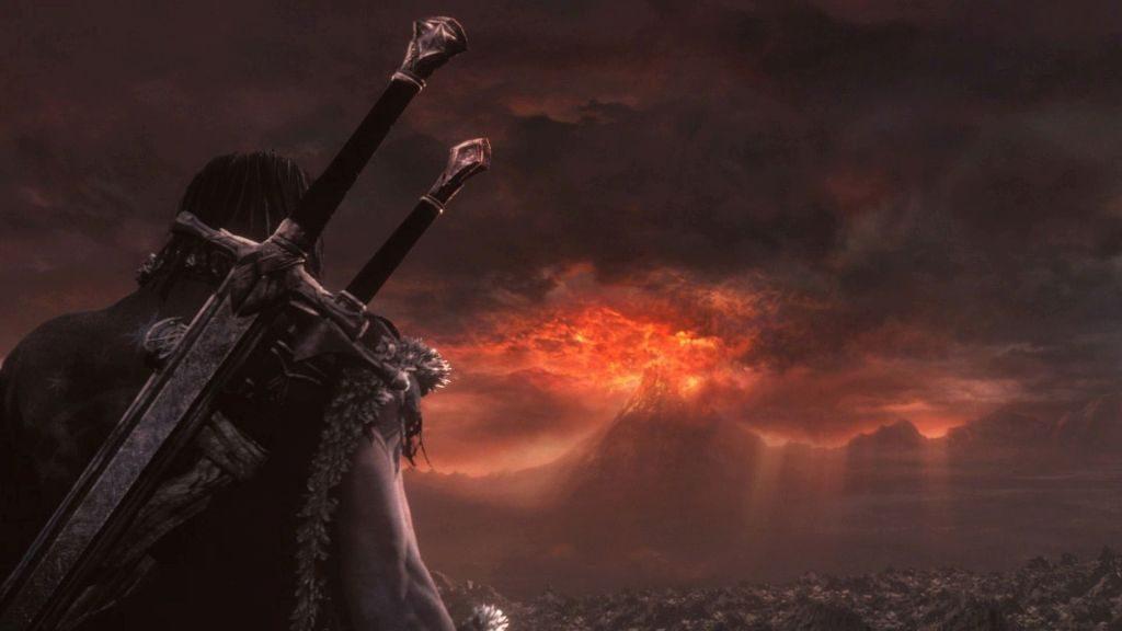 Yeni bir yüzük dövmek için Hüküm Dağı'na doğru yola çıkan Talion ve Celebrimbor