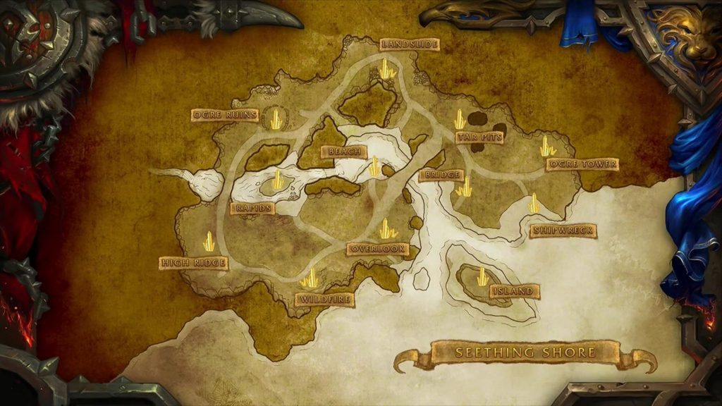 Yeni battleground gelecek demiş miydik? Demediysek buyrun Seething Shore'a. Ayrıca 2 adet yeni arena da yolda.
